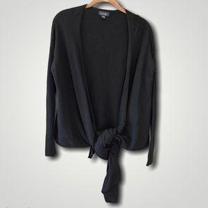 WITCHERY cashmere wool tie cardigan black 🚣